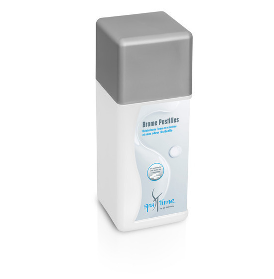 Brome pastille produit traitement d'eau pour spa et jacuzzi Spatime Bayrol