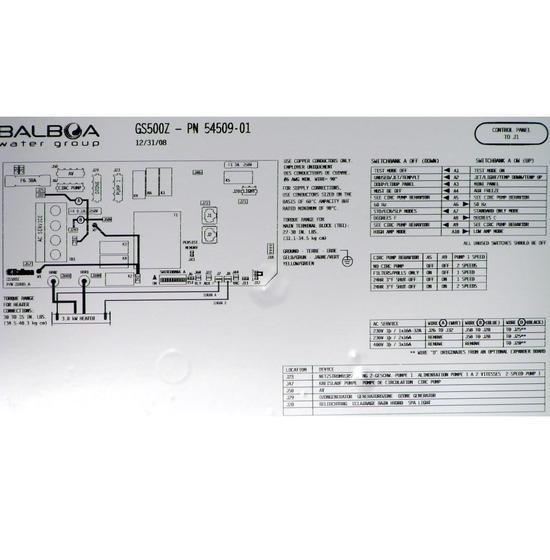 Réchauffeur BALBOA GS500 pour spa et jacuzzi CATALINA