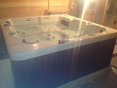 Vente et installation dans un chalet d'un spa à la Foux d'Allos ALPES 04260